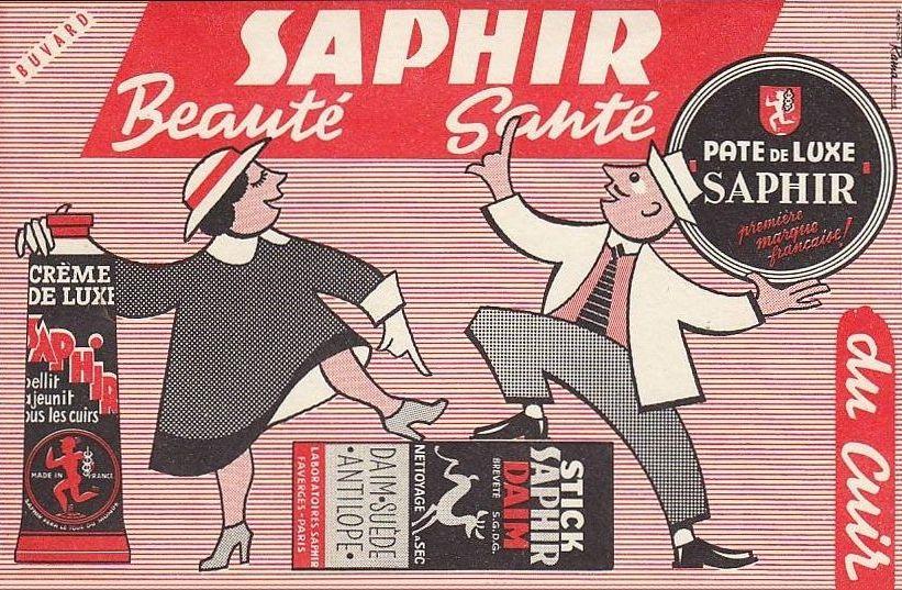 buvard Saphir, cirage et créme pour le cuir, chaussures